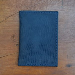 Porta Cartão Couro Azul Marinho