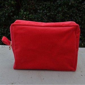 Necessaire Plush Vermelha - Grande