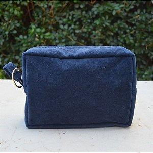 Necessaire Plush Azul Marinho - Pequena