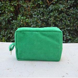 Necessaire Plush Verde - Pequena