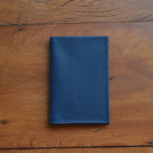 Porta Passaporte Individual em Couro Azul Marinho