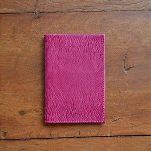 Porta Passaporte Individual em Couro Pink