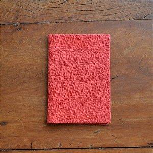 Porta Passaporte Individual em Couro Vermelho
