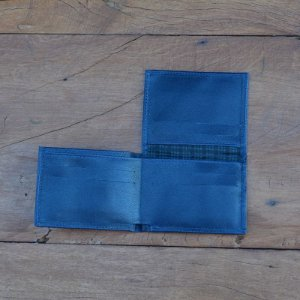 Carteira Masculina Couro Azul Marinho