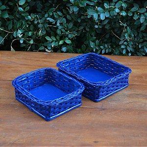 Kit Bandejas Azul - 2 peças