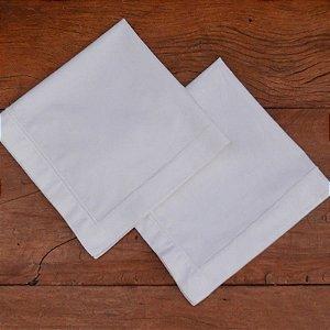 Guardanapo de Tecido Branco - 2 peças