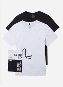 Kit Camiseta John John Basic Malha PB