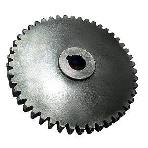 Engrenagem De Ferro De 46 Dentes 14CM FURO 1,8CM
