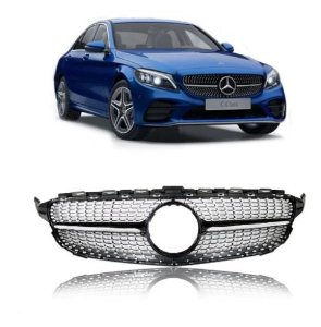Grade Frontal Sem Emblema Mercedes Amg C W205 Diamante