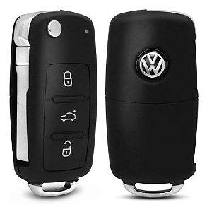 Capa de Chave Canivete Volkswagen Com Led e 3 Botões