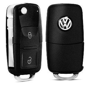 Capa de Chave Canivete Volkswagen Com Led e 2 Botões