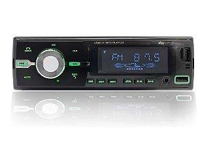 Rádio MP3 Com Bluetooth, Led Verde e Controle Remoto - Vo6