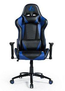 Cadeira Gamer Azul e Preta - Vo6 - 12x Sem Juros
