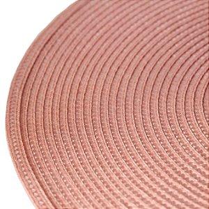 Lugar Americano de Plástico Fresno Espiral Rosa 38cm