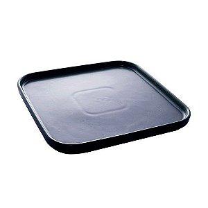 Conjunto 02 Pratos de Porcelana Bon Gourmet Matt Azul Escuro 21cm