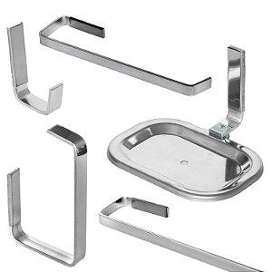 Kit Acessório para Banheiro Standard Quadra 5Pçs