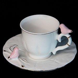 Conjunto 06 Xícaras de Café em Porcelana Wolff Bird 100ml