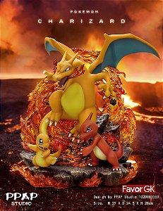 Figure Evolution of Charizard Family - Pokemon Resin Statue - PPAP Studios (Pre-Order)