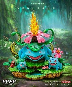 Figure Venusaur Family - Pokemon Resin Statue - PPAP Studios (Pre-Order)