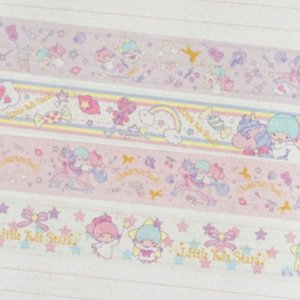 Washi Tape Sanrio (Fita Decorativa) Little Twins Stars (unid.)