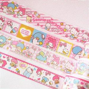 Washi Tape Sanrio (Fita Decorativa) Sanrio Characters (unid.)