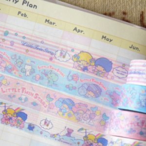 Washi Tape Sanrio (Fita Decorativa) Little Twins Stars 02 (unid.)