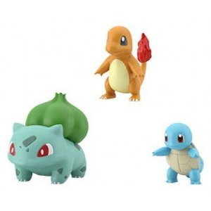 Scale World Pokémon Charmander, Bulbasaur & Squirtle