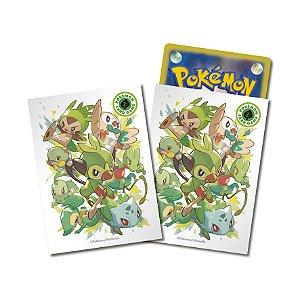 Sleeves Pokémon iniciais de grama