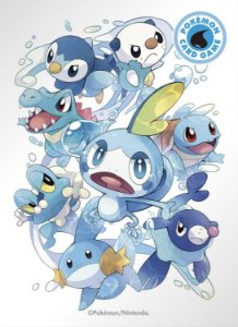 Sleeves Pokémon iniciais de água