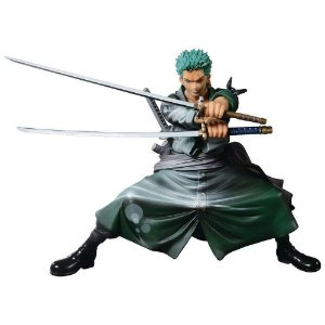 FIGURE - ONE PIECE - SCULTURES BIG ZOUKEIO - RORONOA ZORO SHINING COLOR (Pronta Entrega)