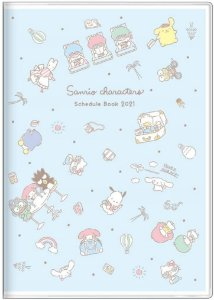 Planner 2021 - Sunstar Stationery Sanrio Characters Light Blue (Pronta Entrega)