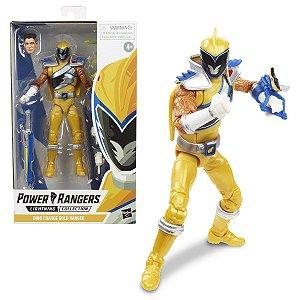 Figure Articulada - Power Ranger Lighting Collection - Dino Charge Gold Ranger (Pronta Entrega)