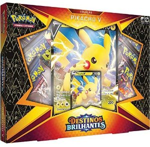 Pokemon TCG - Box Destinos Brilhantes - Coleção Pikachu V (Pronta Entrega)