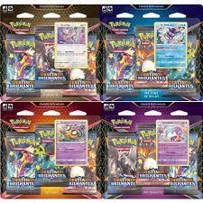 Pokemon TCG - Coleção Festa Maluca - Triple Pack Destinos Brilhantes (Pronta Entrega)