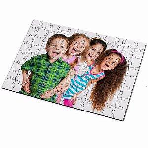 Kit Quebra-Cabeça Personalizado com Fotos 90 peças + Caixa Personalizada