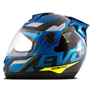 Capacete Pro Tork Evolution G8 EVO Azul - Amarelo
