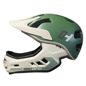 CAPACETE BIKE DH/ENDURO HURRICANE C/QUEIX.REMO CZA/VRD - HIGH ONE