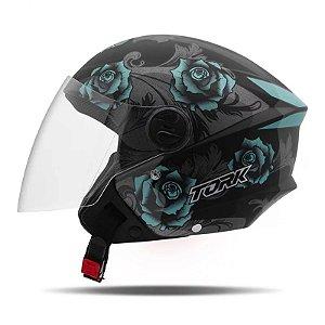 Capacete Moto Aberto Pro Tork New Liberty 3 Flowers Verde