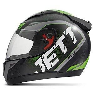Capacete Jett Modelo Evo Line Brilhante Verde