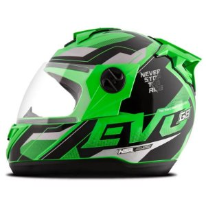 Capacete Moto Fechado Pro Tork Evolution G8 Evo Verde