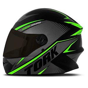 Capacete Moto Pro Tork R8 Verde Viseira Fumê