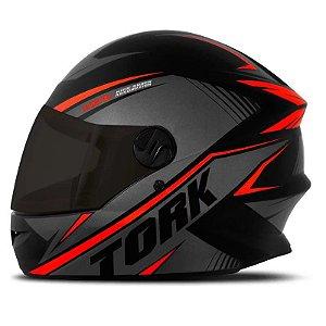 Capacete Moto Pro Tork R8 Vermelho Viseira Fumê