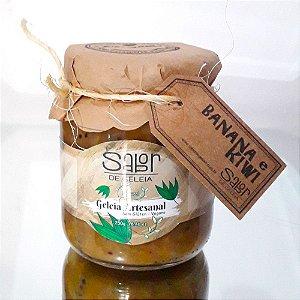 Geleia Artesanal de Banana e Kiwi 250g Sabor de Geleia