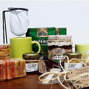Kit café dos namorados Sabor de Geleia com 15 itens