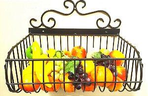 Fruteira com 01 cesto 40cm x 20cm