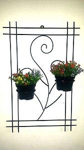 Floreira com suporte para 02 vasos