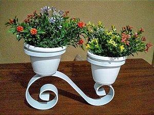 Suporte de mesa p/ 2 vaso em arabesco