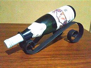 Suporte de mesa para vinhos em aço pesado