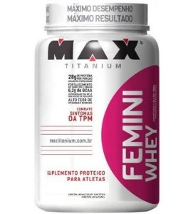FEMINI WHEY (900G) MORANGO MAX TITANIUM