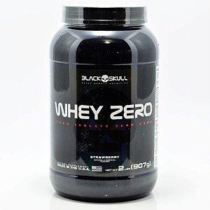 Whey Zero 900 G Sabor Morango - Black Skull